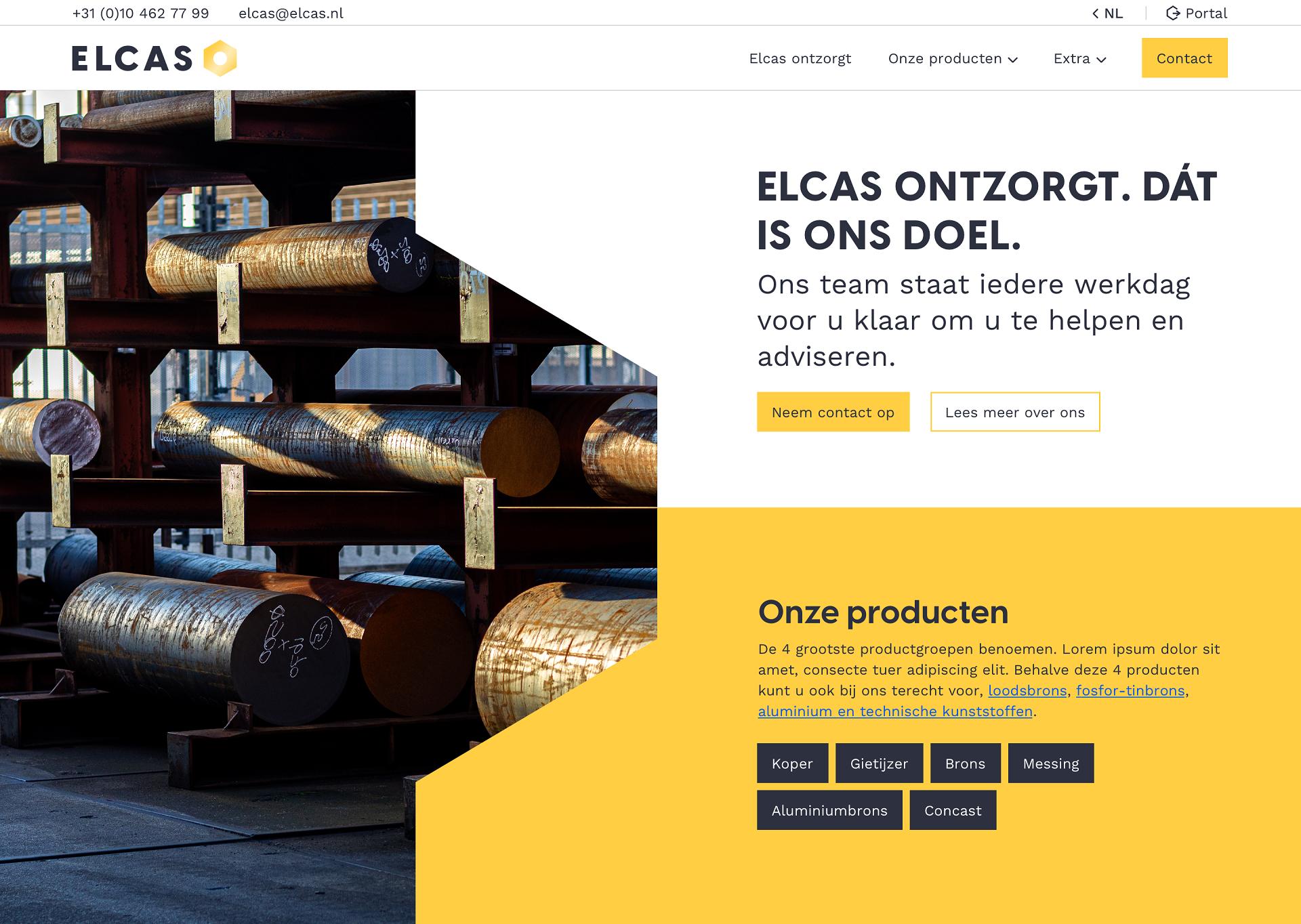 Elcas 2020 Nieuw logo en nieuwe site